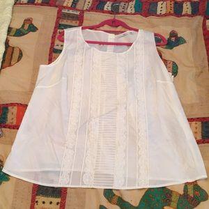 Silk/Cotton blend sleeveless blouse